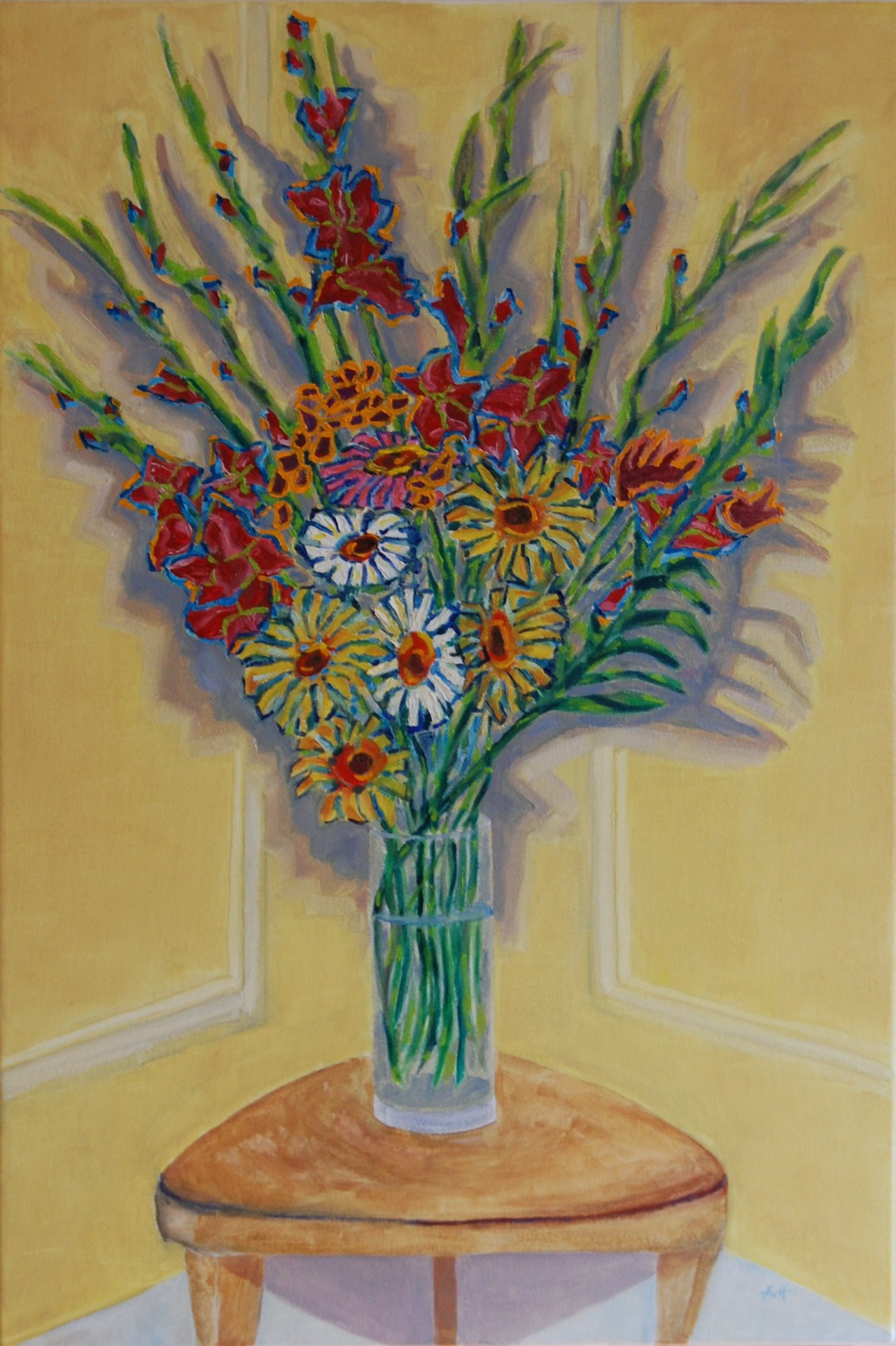 Flowers For Her Birthday Art By Tjaard