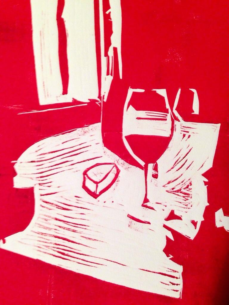 Een glaasje wijn